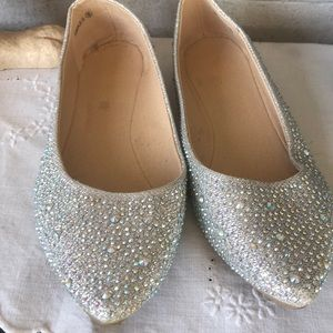 Shoes - Iridescent beaded flats
